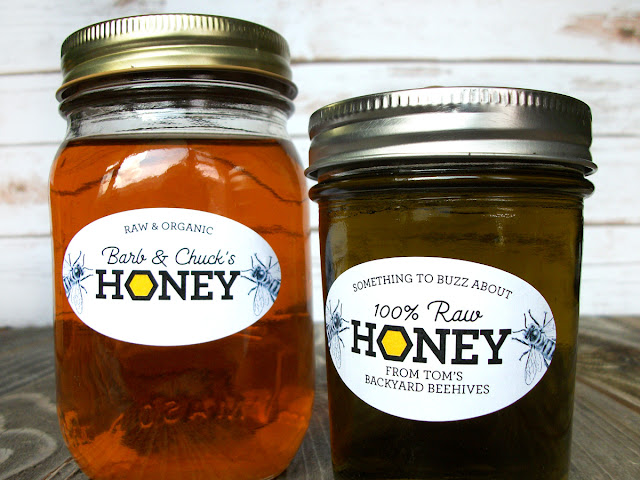 labels for honey jars