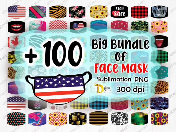 Bundle Of Face Mask Sublimation