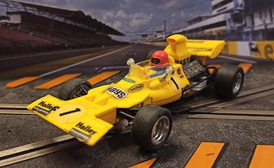 "Tyrrel Ford F1 Exin ""amarillo"" Scalextric"