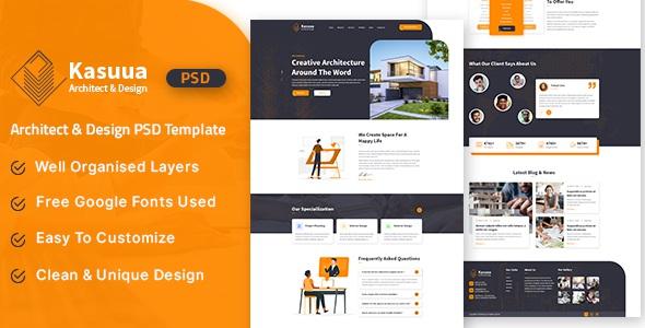 Best Architect & Design PSD Template