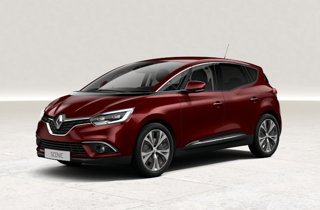 renault scenic rouge carmin
