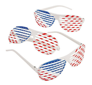 Girl Scout sujmmer meeting ideas-host an Olympics party with games. These sunglasses are a great novelty to hand out.