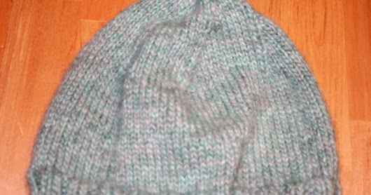Soft Teal Knitted Hat