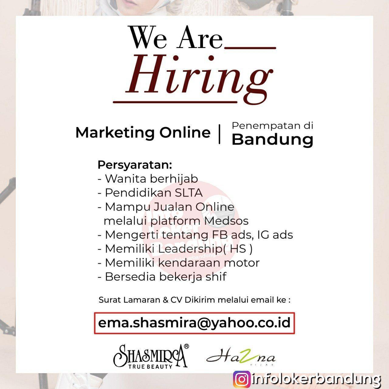 Lowongan Kerja Marketing Online Shasmira True Beauty Bandung Februari 2019