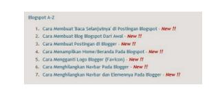 tampilan sitemap blogger 3