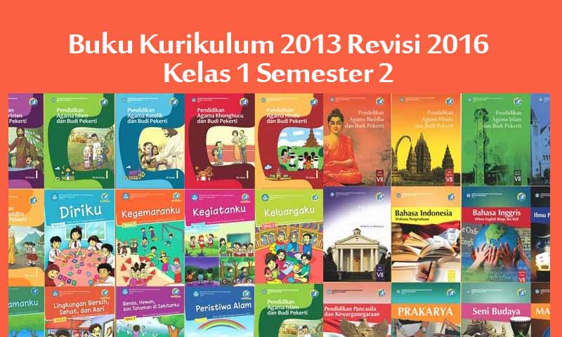 Download Buku Kurikulum 2013 Kelas 1 Revisi Tahun 2016 2017 Semester 2