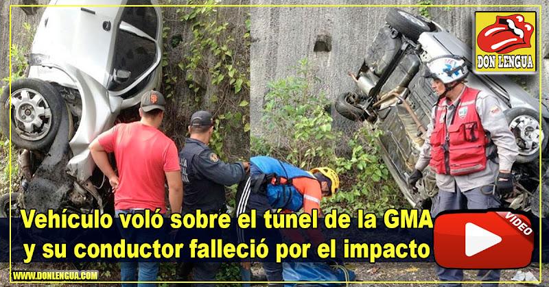 Vehículo voló sobre el túnel de la GMA y su conductor falleció por el impacto