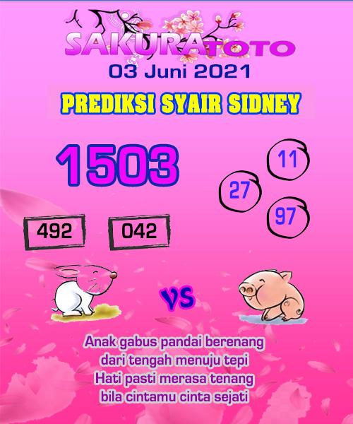 Syair Sakuratoto Sidney Kamis 03 Juni 2021