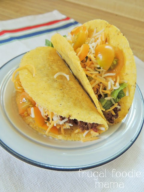 3 Ingredient Crock Pot Tacos- just 3 ingredients, 1 Crock Pot, & 6 hours to the best taco meat ever!