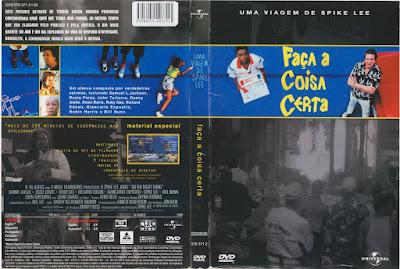 Filme Faça A Coisa Certa (Do The Right Thing) DVD Capa
