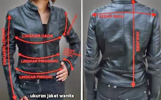 ukuran jaket wanita