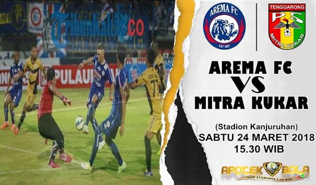 Prediksi Arema FC vs Mitra Kukar 24 Maret 2018
