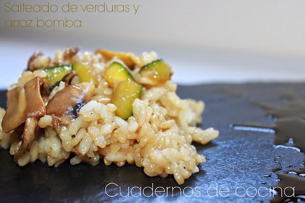 Salteado de verduras y arroz bomba cocinar en casa es - Salteado de arroz ...