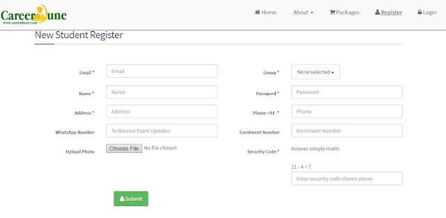Register Account at Careerdune