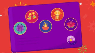 Get Rangoli and Flower stamp easily on google pay 2019
