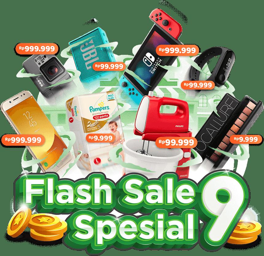 Tokopedia - Serbu Flash Sale Spesial 9 Harga Serba 9 Mulai 9Ribuan (s.d 17 Agustus 2018)