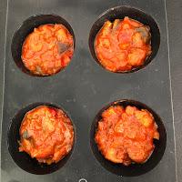 Ratatouille Cassegrain dans moule à muffins