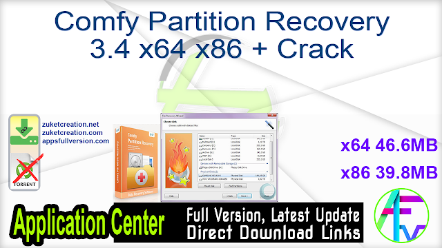 Comfy Partition Recovery 3.4 x64 x86 + Crack