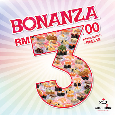 Sushi King Bonanza RM3 Plate