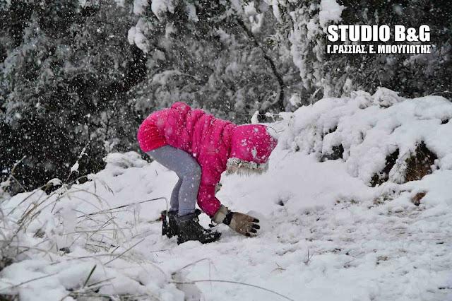 Οδοιπορικό στην χιονισμένη Αργολίδα