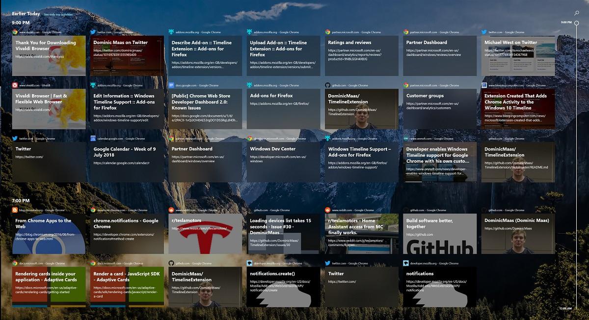 [Riammessa] Windows Timeline Support rimossa dal Chrome Web Store