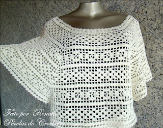 блуза филейное вязание