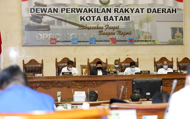Rudi : Pendapatan APBD Kota Batam TA 2021 Menurun Menjadi Rp 2,650 Triliun,-