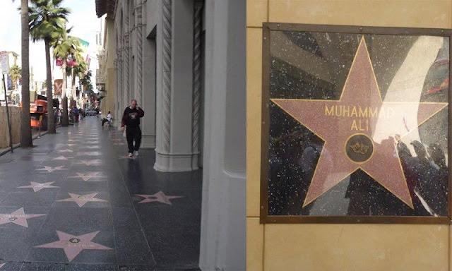 Mohamed Ali est la seule célébrité à avoir une étoile sur un mur et non pas au sol par conviction religieuse.