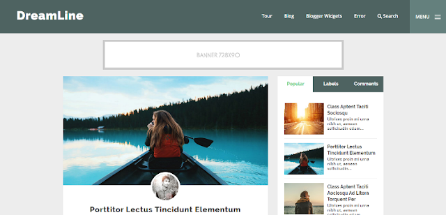DreamLine - Personal Blogger Template