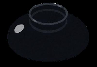 お椀の蓋のイラスト(開いた状態)