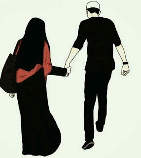 Muslim Couple Cartoon  pic hd