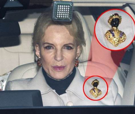 Racist princess wears racist brooch to lunch with Megan Markle (photos)