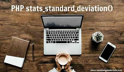 PHP stats_standard_deviation() Function