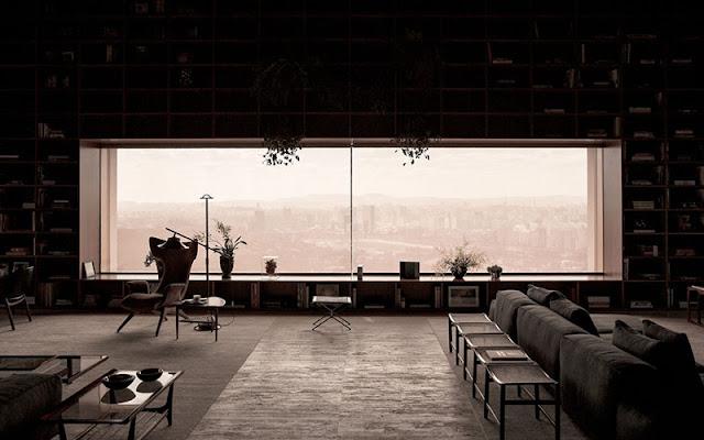 Vue penthouse réalisation architecte