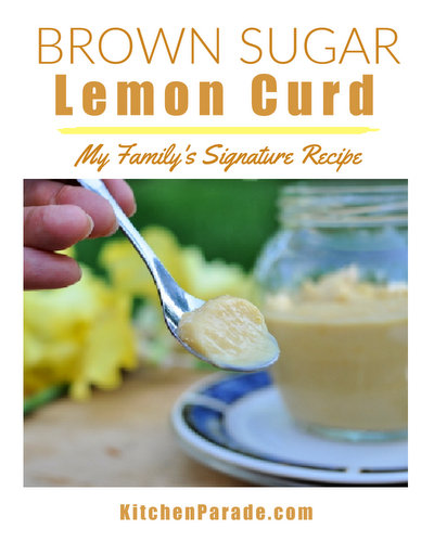 Brown Sugar Lemon Curd ♥ KitchenParade.com, my family's signature recipe for lemon curd, made with brown sugar. Two versions, one less sweet and less rich.