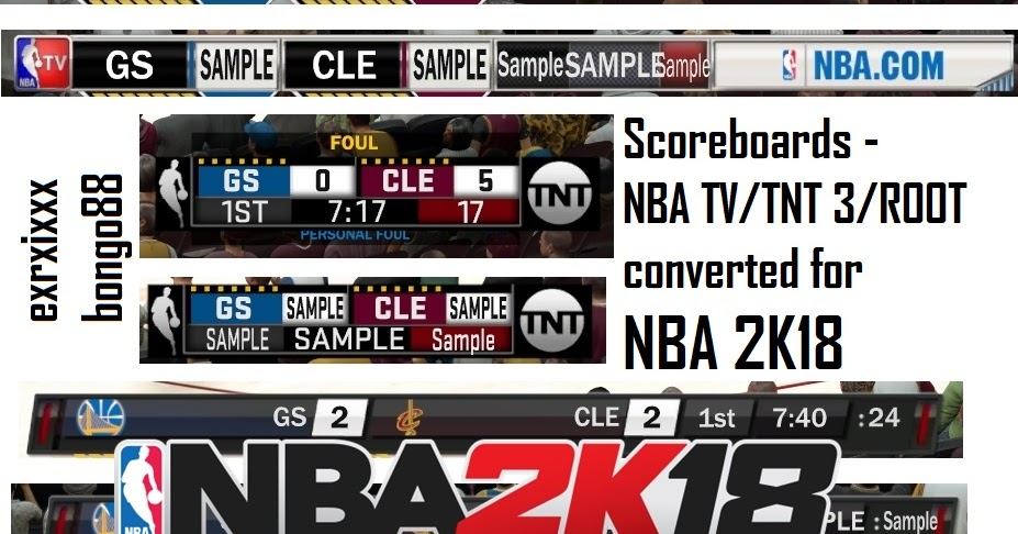 dna of basketball dnaobb nba 2k18 scoreboards combo nba tv tnt root by exrxixxx bongo98. Black Bedroom Furniture Sets. Home Design Ideas