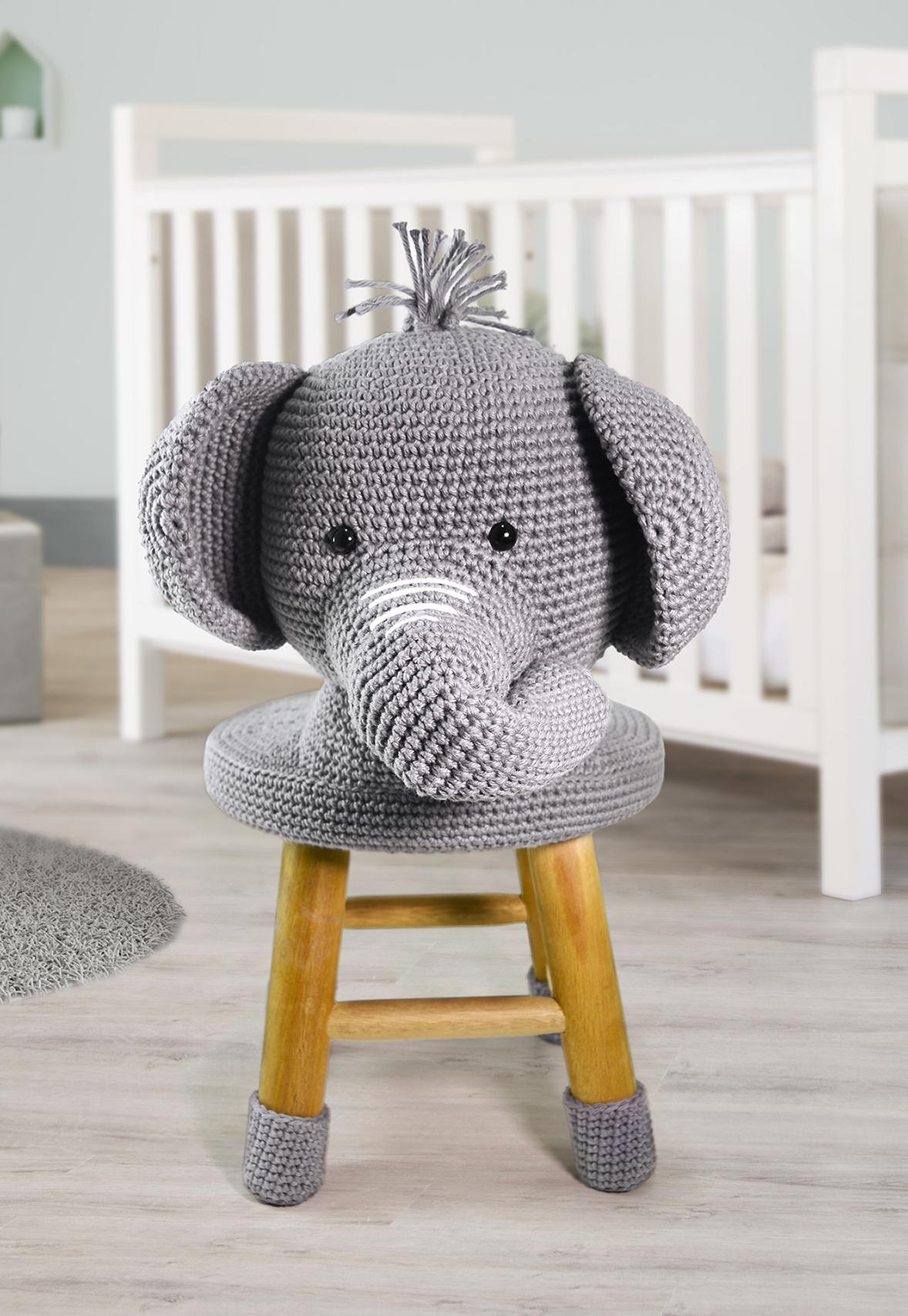 Receita Banquinho Elefante Amigurumi
