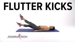 تمرين flutter kicks