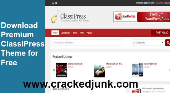 Free Download ClassiPress Premium WordPress Theme latest version v4.1.5