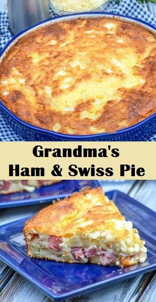 Grandma's Ham & Swiss Pie