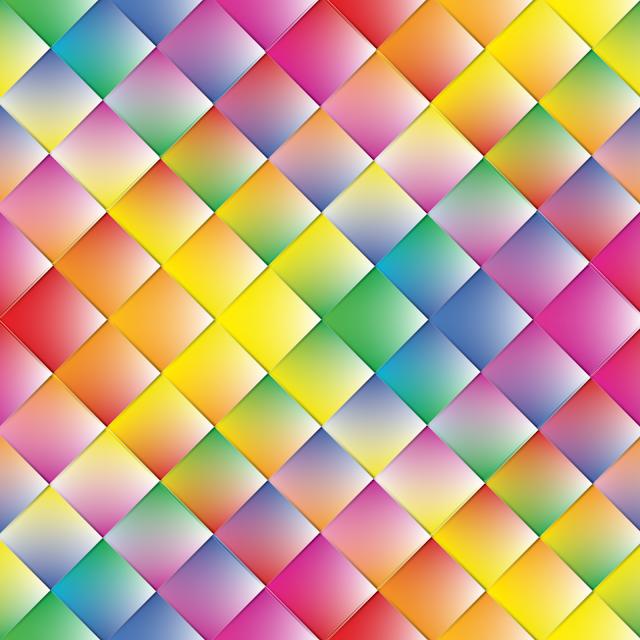Gay Pride - Gradated Rainbow Diamond Pattern of Pride