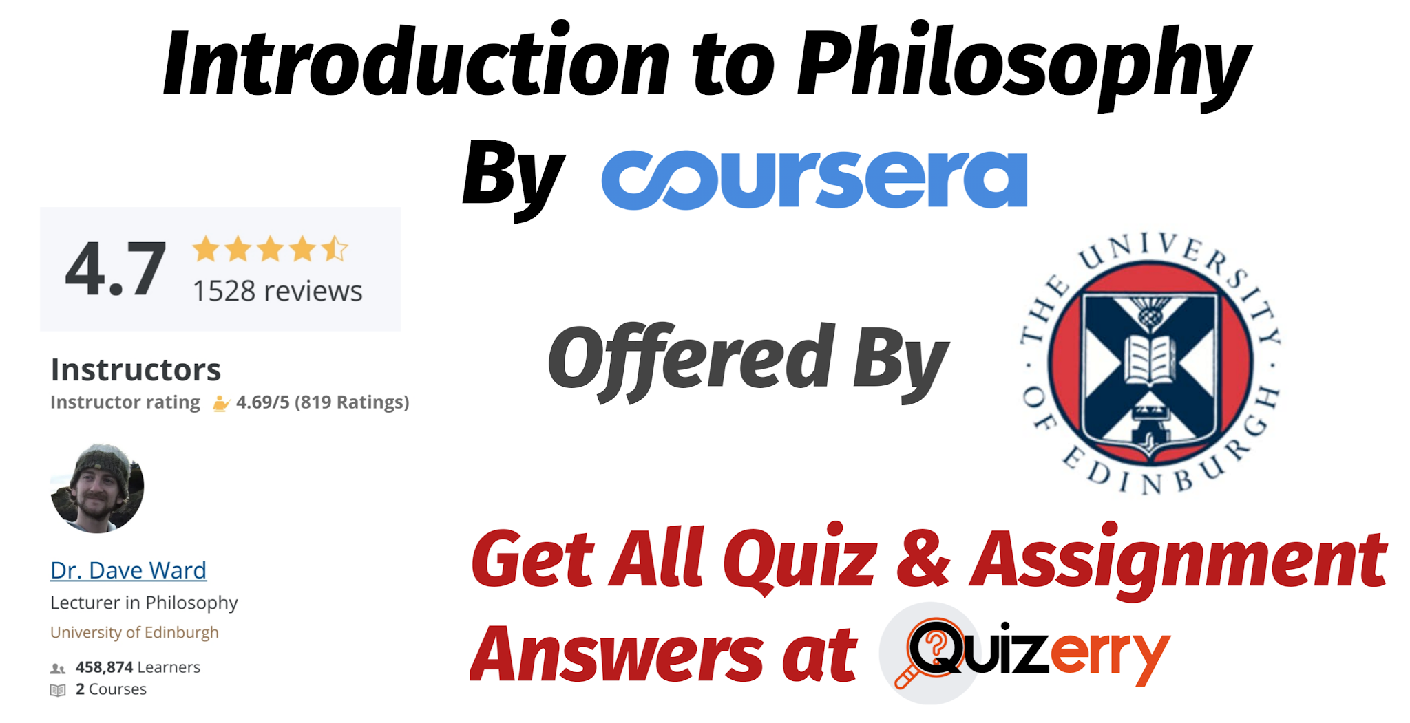 Introduction to Philosophy Coursera Quiz Answers 100% Correct Answer (Updated 2020)