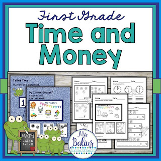 time and money practice set by Mrs. Balius