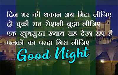 lovely good night shayari pic