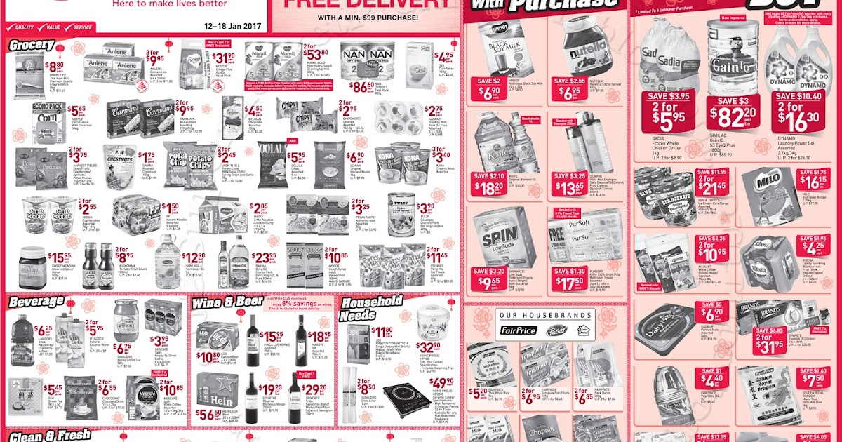 Supermarket promotions ntuc fairprice weekly promotion 12 for Tp fish market