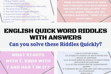 Can you solve these Word Riddles as quickly as possible?