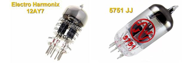 Válvulas de Previo para Amplificador de Guitarra Electro Harmonix 12AY7 Vs 5751 JJ