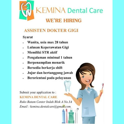 Kerjabatam.com PENGUMUMAN RESMI LOKER Kemina Dental Care