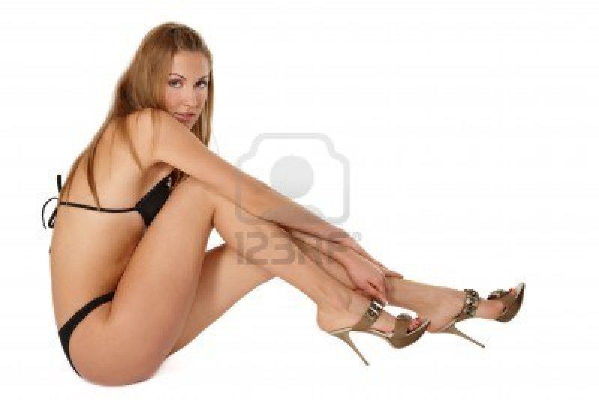 image Bella dama sin fondo en el dormitorio