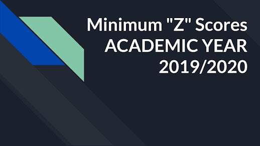 "Minimum ""Z"" Scores Academic Year 2019/2020"
